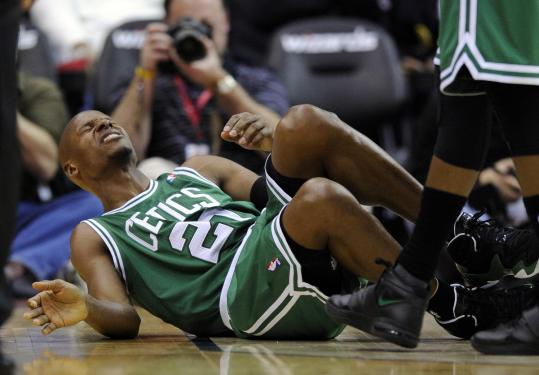 "Ray Allen said Jan Vesely's screens were ""a train wreck waiting to happen,'' and indeed one caused Allen to hurt his ankle."