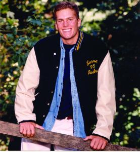 Tom Brady during his days at Junipero Serra High School in San Mateo, Calif.