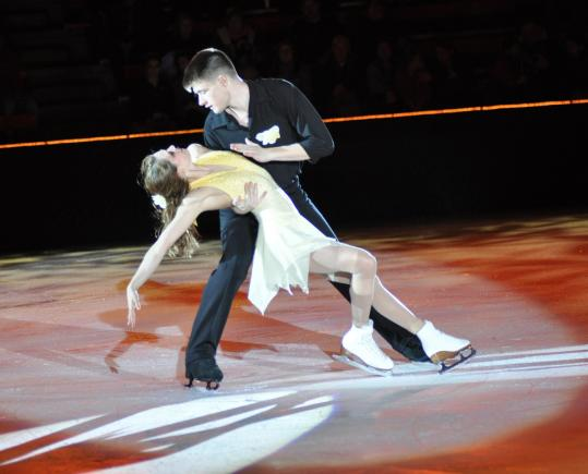 Partners Alexandria Shaughnessy and James Morgan won a bronze medal at the US Figure Skating Championships.