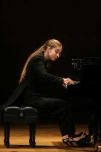 Lise de la Salle (pictured in New York in 2007) played a program from Ravel to Debussy, Beethoven to Prokofiev, in her Boston recital debut at Jordan Hall on Saturday.