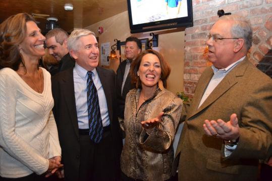 From left: Carla Gomes, John Brooks, Francesca Bastarache, and Mayor Menino at the Joslin Diabetes Center's 7th Annual CityFeast.