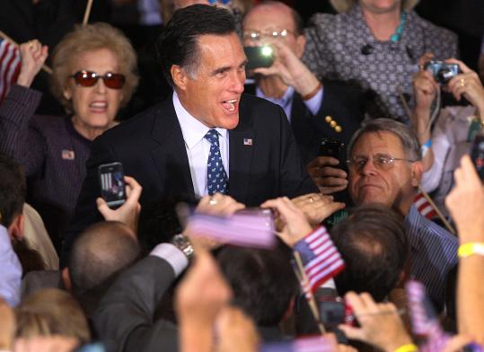 A victorious Mitt Romney celebrated in Florida after the primary.