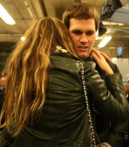 For quarterback Tom Brady, consolation after the game had to come in the form of a hug from his wife, Gisele Bundchen.
