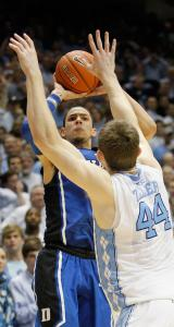 Just what Doc ordered: Son Austin Rivers launches the winning 3-pointer for Duke.
