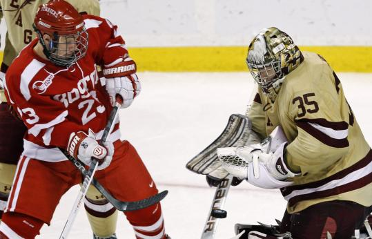Parker Milner overcame a midseason slump to solidfy his spot as BC's top goalie.