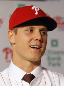 Jonathan Papelbon is glad to be a Phillie but tips his cap to the Sox.