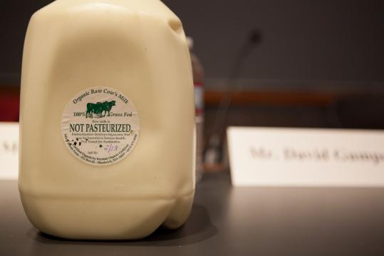In Massachusetts, only on-farm sales of unpasteurized milk are allowed. Sally Fallon Morell, a raw milk proponent, spoke at the debate hosted last Thursday by the Harvard Food Law Society.