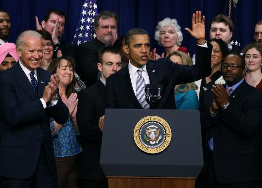 President Obama recently changed positions and encouraged contributions to his super PAC, a fund-raising tool he previously shunned. Yesterday he appeared at a Washington, D.C., event (above) to announce he will sign a payroll tax cut extension.