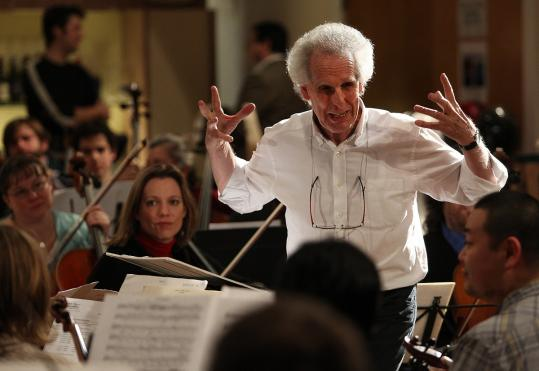 Conductor Benjamin Zander, rehearsing the Boston Philarmonic.