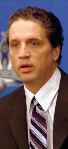 With his team last in the NHL in goals, Kings GM Dean Lombardi (left) acquired Columbus center Jeff Carter, who has 15.