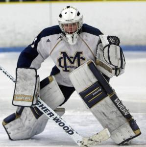 Malden Catholic goalie Connor Maloney backstopped the Lancers to a 14-1-3 record and the No. 1 seed.