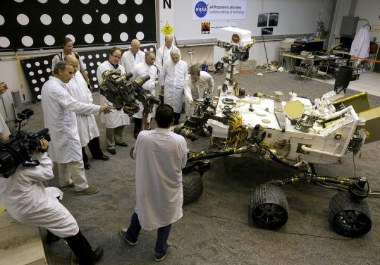 Despite President Obama canceling two missions to Mars, scientists checked out a replica of the Mars Science Lab rover yesterday at NASA's Jet Propulsion Laboratory in Pasadena, Calif.