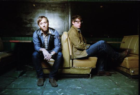 """Dan Auerbach (left) and Patrick Carney are touring behind their seventh album, the critically acclaimed """"El Camino.''"""