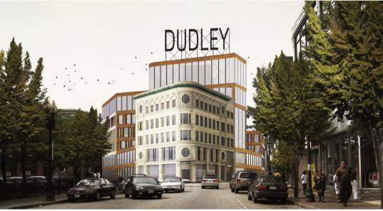 The historic Ferdinand building will anchor a $115 million office and retail complex in Dudley Square. The multitiered facility will be the new home of the Boston School Department and will include space for art exhibits and special events. Officials hope it will open in fall 2014.