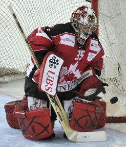 Marty Turco, who played for Team Canada in the Spengler Cup in December, must clear waivers to be a member of the Bruins.