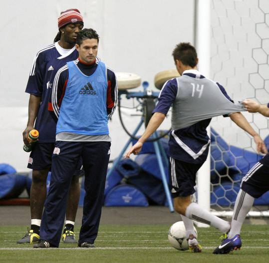 Former player Jay Heaps, in his first head coaching stint, is keeping a close eye on things with the Revolution.