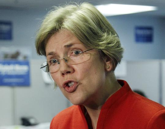 "Elizabeth Warren, a Democrat who hopes to unseat Senator Scott Brown, was critical of Hillary Clinton on bankruptcy issues, which Warren described in her book, ""The Two Income Trap.''"