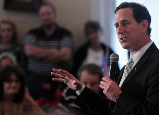 Rick Santorum hoped to stop Mitt Romney's momentum as the GOP race headed to Alabama and Mississippi.