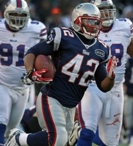 Dependable BenJarvus Green-Ellis led the Patriots with 667 rushing yards.