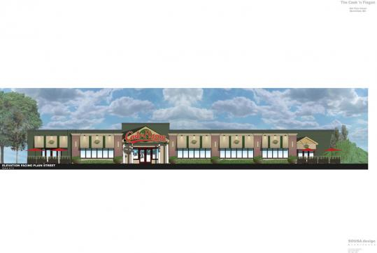 An architectural rendering of the Cask 'n Flagon bar-restaurant proposed in Marshfield.