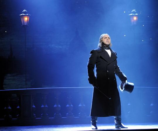 "Andrew Varela stars as Javert in the 25th-anniversary production of ""Les Miserables.''"