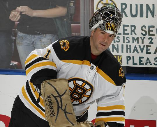 Readjusting to the speed of the NHL game has been the biggest challenge for Marty Turco since joining the Bruins.