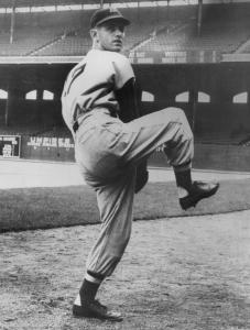 Mr. Parnell in 1956, his final year, when he hurled a no-hitter.