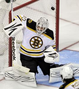 Tim Thomas is expected to get the start Saturday night against the Kings.