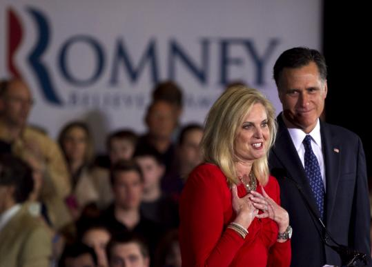 Ann Romney has moved beyond her usual role vouching for her husband, Mitt, as a family man.