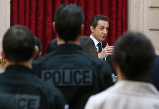 President Nicolas Sarkozy opposed airing of the video.