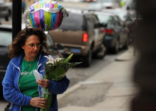 Diane Hohen of TaskRabbit delivered a bouquet of flowers last week. TaskRabbit has a team of errand-runners for small jobs.