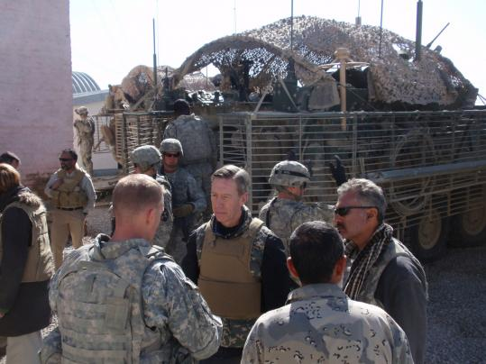 Representative Stephen Lynch, who has traveled to the Iraqi and Afghan war zones more than almost any other member of Congress, visited the village of Spin Boldak in Afghanistan in 2010.