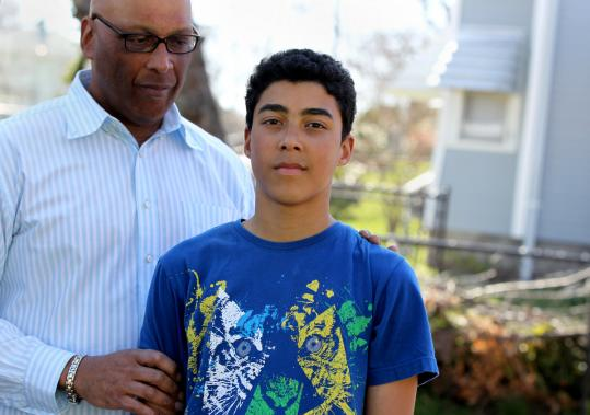 Richard Claytor and his son Ryan, 15, have discussed the killing of Trayvon Martin, 17.