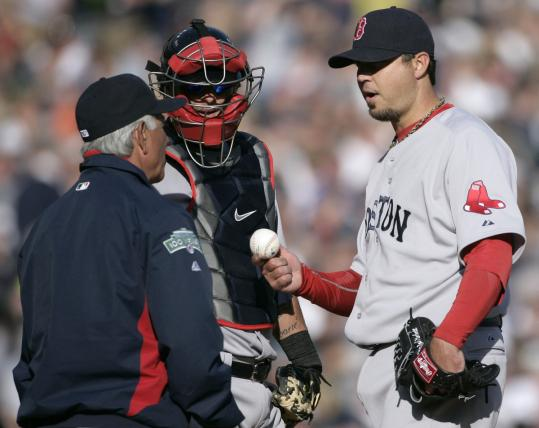 Josh Beckett (right) was roughed up in his first start by Detroit but expects to be pumped up for the Red Sox home opener.