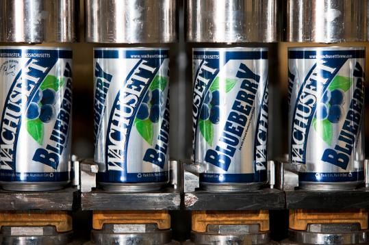 Cans of Wachusett Brewing Co.'s Blueberry Ale and Green Monsta IPA are set to debut on store shelves next month.