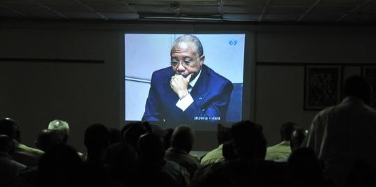 People in Freetown, Sierre Leone, watched the verdict given Thursday for Liberia's former leader Charles Taylor in The Hague.