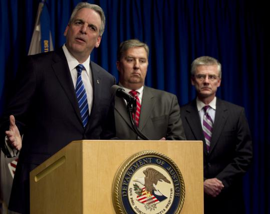US Attorney Peter Neronha announced the arrest of reputed New England Mafia boss Anthony DiNunzio Wednesday.