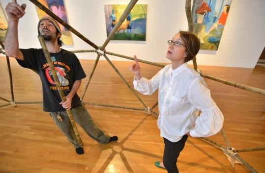 Lisa Tung recently worked with artist Ben Silva as he installed a work at a MassArt gallery.