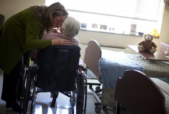 Alison Weingartner moved her mother, Rosanne Murphy, to Prescott House in North Andover, and says she's better.