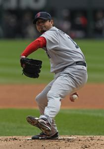 Red Sox starter Josh Beckett matched a career high by throwing 126 pitches Sunday.