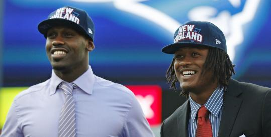 Patriots first-round draftees Chandler Jones (left) and Dont'a Hightower have a lot to offer.