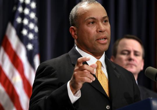 In a tough speech at Tufts University, Governor Deval Patrick called Alabama and Arizona immigration policies hysterical and poisonous and compared them to Jim Crow laws and McCarthyism.