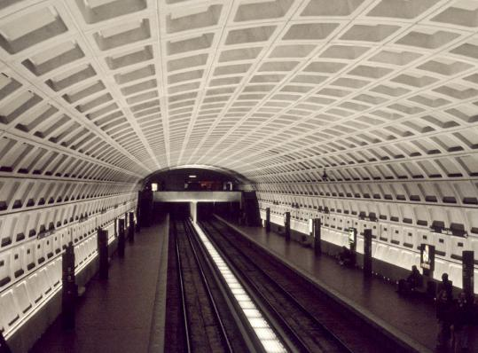 Mr. Lam used indirect, muted lighting for the Washington Metro to emphasize the architecture.