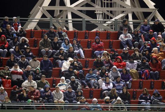 Even though the Red Sox reported it as a sellout, there were plenty of empty seats at Wednesday's game at Fenway Park.