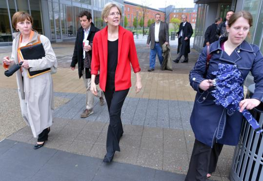 Elizabeth Warren, who visited Salem State University Friday, said that people who hired her have stated &#8220;as clearly as humanly possible that I got what I got because of the work I&#8217;ve done.&#8217;&#8217;