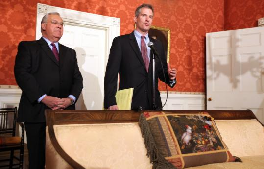 Senator Scott Brown and Menino have had a highly congenial relationship since Brown was elected.