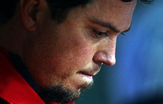 Josh Beckett's rough night was over after just 2 1/3 innings.