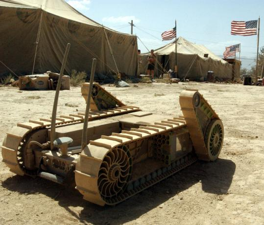 The House Armed Services Committee this week voted to provide nearly $100 million in new funding for unmanned ground systems, such as the one above, iRobot's specialty.
