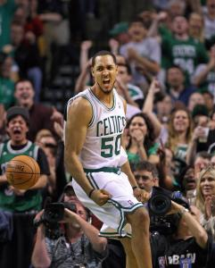 Ryan Hollins played some key minutes in the first-round clincher Thursday night.