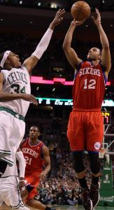 Paul Pierce and the Celtics got a good look at the skills of the Sixers' Evan Turner Saturday night in Game 1, in which he had 16 points.
